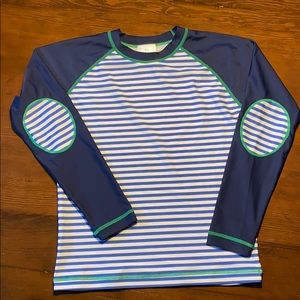 NWOT Hanna Andersson Striped Rash Guard Size 10